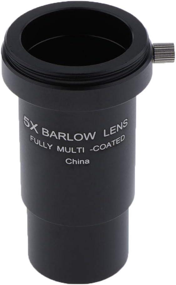 IPOTCH 5X Telescopio Barlow Lente FMC Metal M42 W//Coloridos Filtros Ocular Regalos
