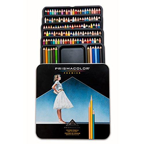 Prismacolor Premier Soft Core Colored Pencils 132 Colors Tin (Tin Dark Denim)