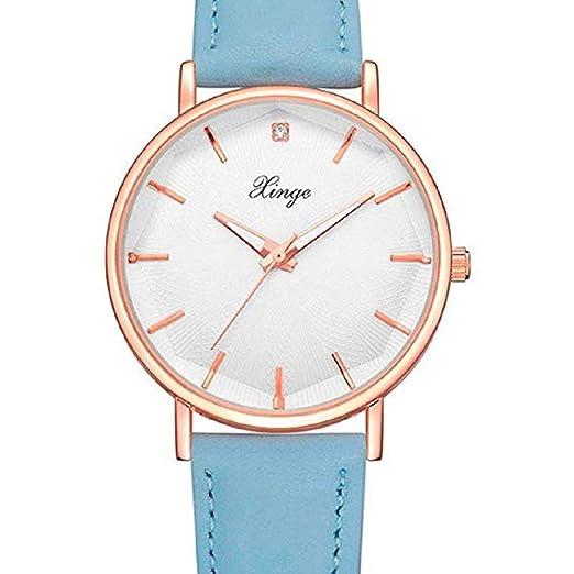Scpink Relojes de Cuarzo para Mujer, Relojes de Dama de Moda analógicos Simples Relojes Femeninos