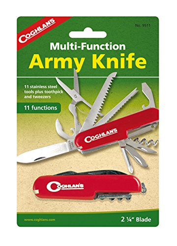 Corkscrew Combo (Coghlan's Folding Multi-Tool Army Knife, 11-Function)