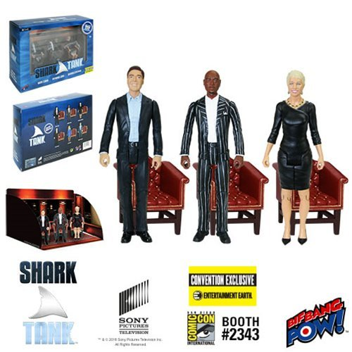 Bif Bang Pow! Shark Tank Mark, Daymond, Barbara 3 3/4-Inch Figure-Con Excl]()