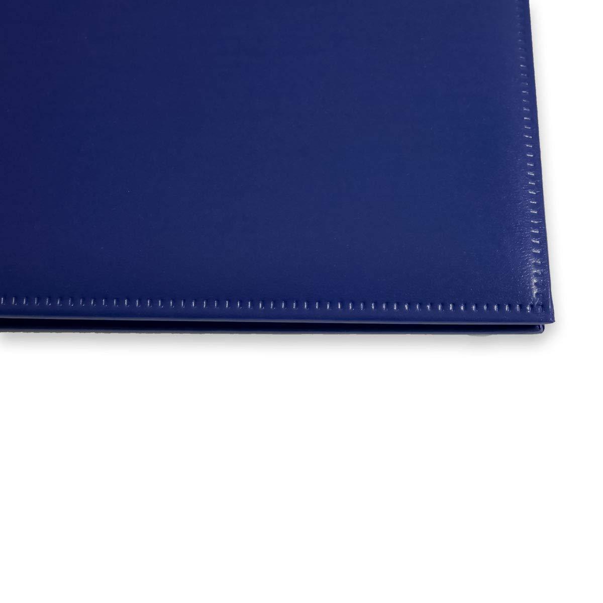 Zeugnismappe mit PU-Einband DIN A4 mit 20 H/üllen blau