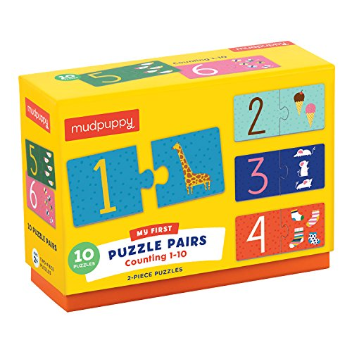 Mudpuppy Counting 1-10 My First Puzzle Pairs Puzzle (20 Piece) by Mudpuppy