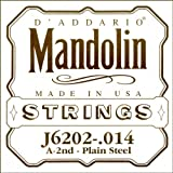 D\'Addario J6202 Plain Steel Mandolin Single String, .014
