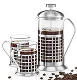 Gourmia GCM9830 French Press Coffee Maker Set 600 ml French Press...