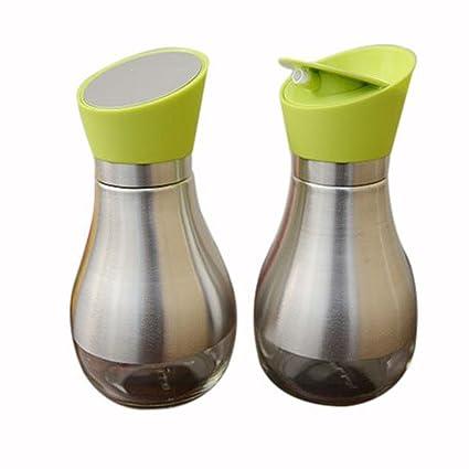 Botella de cristal del aceite de oliva Girar alta precisión Sin goteo, Vinagre/dispensador
