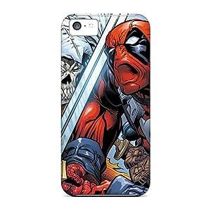New Premium Flip Case Cover Deadpool I4 Skin Case For Iphone 5c
