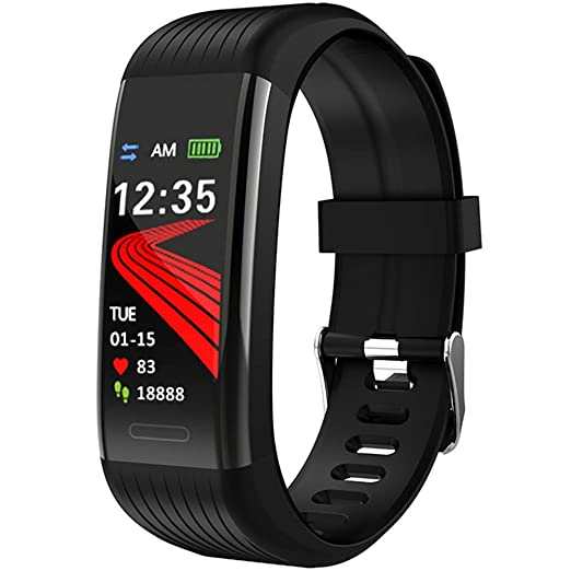 Pulsera Actividad - Reloj Deportivo - Pulsera Inteligente con Pulsómetro, Blood Pressure, Sueño,Podómetro,Pulsera Deporte para Android y iOS Teléfono ...