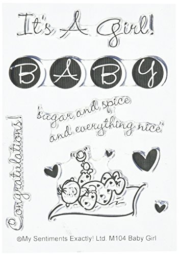 MSE M104 Baby Girl My Sentiments Exactly Stamps Sheet, 3