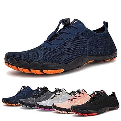 Water Shoes for Men Quick Drying Aqua Shoes Beach Pool Shoes Size: 5.5 Women/4 Men