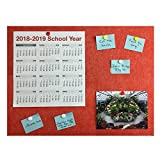 Bulletin Wall/Notice/Message Board 15.75 x 11.81 (Red)