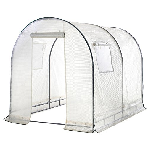 511gjNCTw7L - Abba Patio Walk in 8'L x 6'W x 6.6'H Greenhouse Fully Enclosed with Windows, White