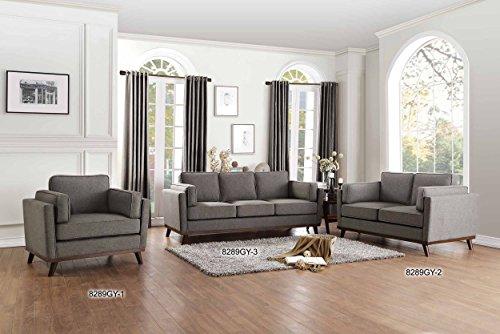 Homelegance Bedos Upholstered Living-Room Arm, Blue Fabric Chair, -  - sofas-couches, living-room-furniture, living-room - 511gjPVlstL -