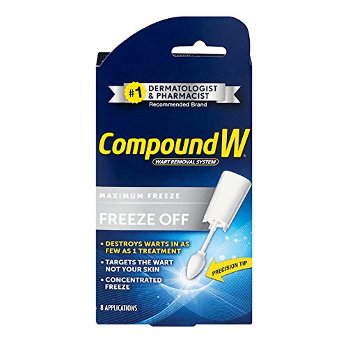 - Compound W Freeze Off Wart Removal System - Effectively Removes Warts in as Few as One Treatment - 8 Disposable Applicators