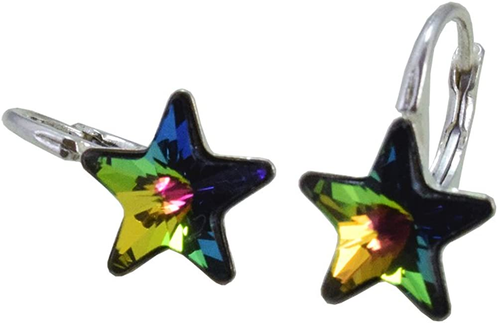 'Crystals & Stones * Vitrail Medium Estrella * *–Schön Pendientes–Pendientes con Cristales de Swarovski Elements–Fantástica Pendientes con caja de regalo