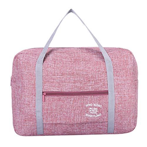(Outique Folding Waterproof Large Capacity Portable Travel Bag Shoulder Bag Trolley Bag)