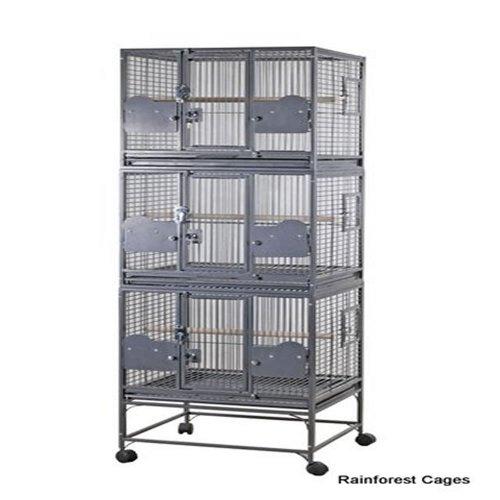 Rainforest Cages Parrot Triple Cage, One Size