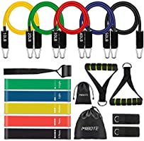 17 Pcs Resistance Bands Set Workout Bands - Including 5 Stackable Exercise Bands /5 Resistance Loop Exercise Bands with...