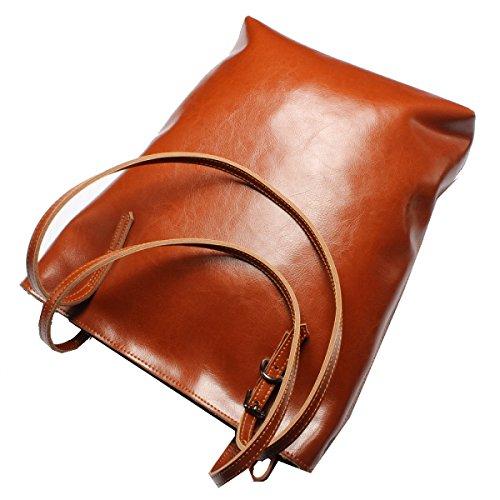 Yy.f Nueva Bolsa De Cuero Bolsos De Cuero De La Manera Cera De Aceite Bolso De Hombro Paquete Diagonal Una Variedad De Colores Brown