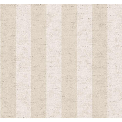 York Wallcoverings SR5794SMP Ashford House Blooms Wide Stripe Wallpaper Memo Sample, 8-Inch x 10-Inch, Beige/Cream