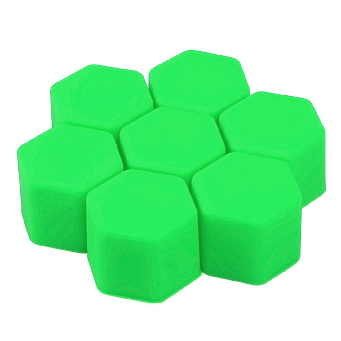 20 unidades Andux Zone LSBHT-01 Tapas de silicona para tornillos de llantas