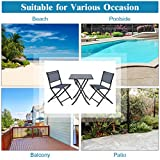 Giantex 3 Pcs Bistro Set Garden Backyard Table