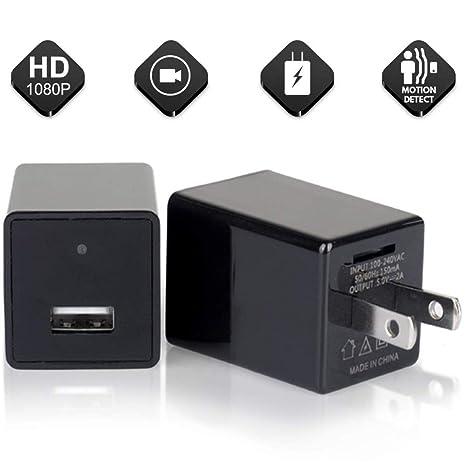 Cámara Oculta Espía 1080P HD USB Cam Con Adaptador De Cargador De Teléfono Wifi Detección De