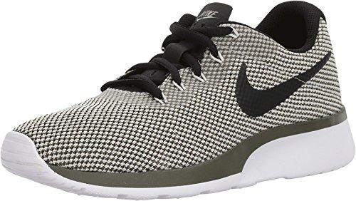 Nike Women's Tanjun Racer Shoe Cargo Khaki/Light Bone (9.5, Cargo Khaki/Black-Light Bone) (Nike Pre Montreal Sneaker)