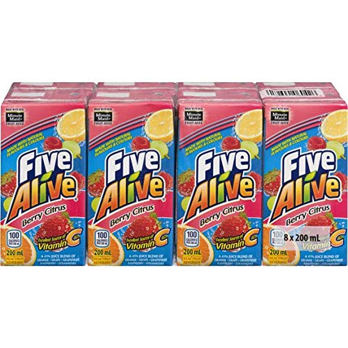 Five Alive Berry Citrus Juice Box (8-Pack) 6.7Oz {Imported from Canada} (Best E Juice Canada)