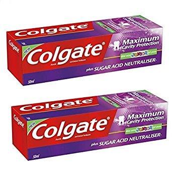 Colgate Maximum Cavity Protection Plus Sugar Acid Neutraliser Mild Mint Junior 6+ Toothpaste 2 x 50 ml ()