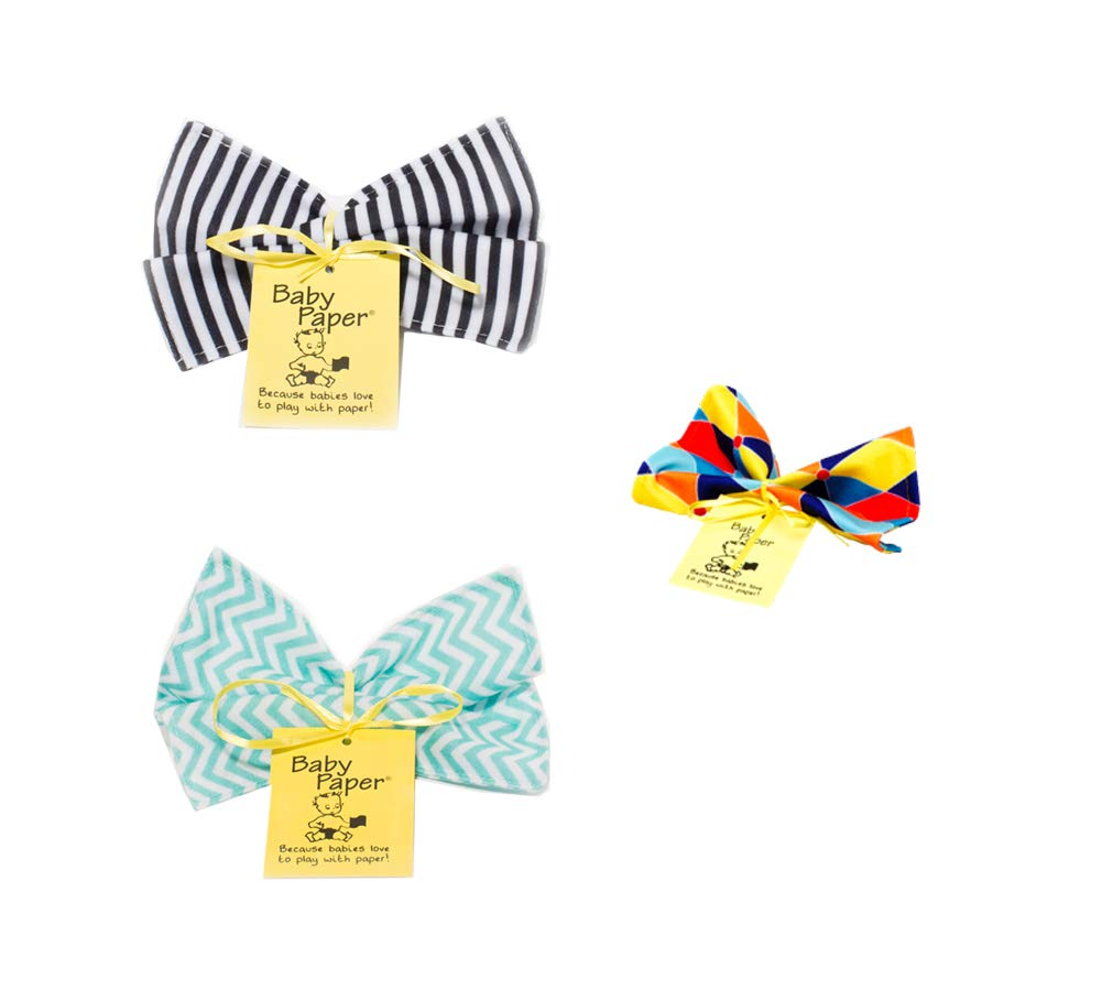 Baby Paper Crinkly Baby Toy Triangle Zig Zag Stripes