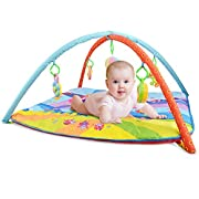 Anjojo Portable Baby Musical Toys Activity Play Gyms & Play mats For Newborn And Toddler (Blue)