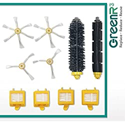 GreenR3 1-PACK (pack for 1 set) Air Filter Set for iRobot 700 Series Set Accessory Set Fits Roomba 700 760 770 780 790 Model Series Replacement Parts Cleaning Tool Cleaner Part Number PN and more