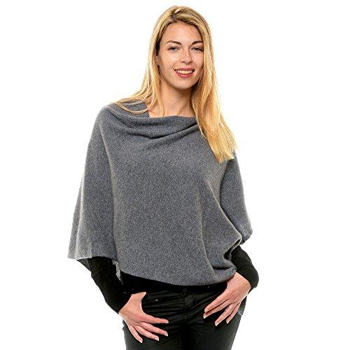 Womens 100% Cashmere Poncho 2 Plys Classics - (100% 2 Ply Cashmere)