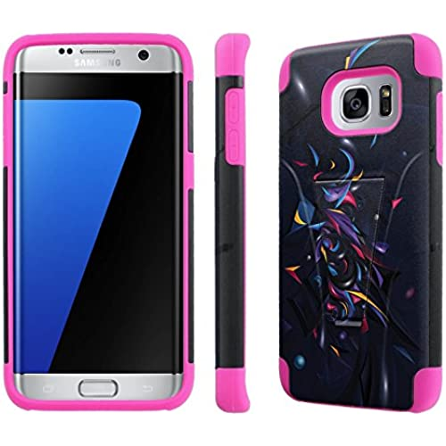 Samsung Galaxy S7 Edge / GS7 Edge [5.5 Screen]Case, [NakedShield] [Black/ Hot Pink] Armor Tough Shock Proof Kickstand Sales