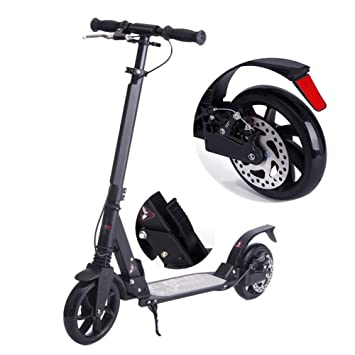 Amazon.com: Adult/Teens Kick Scooter with Disc Brakes ...