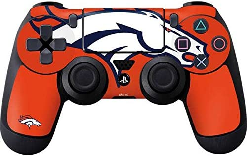 Skinit Decal Gaming Skin for PS4 Controller - Officially Licensed NFL  Denver Broncos Large Logo Design
