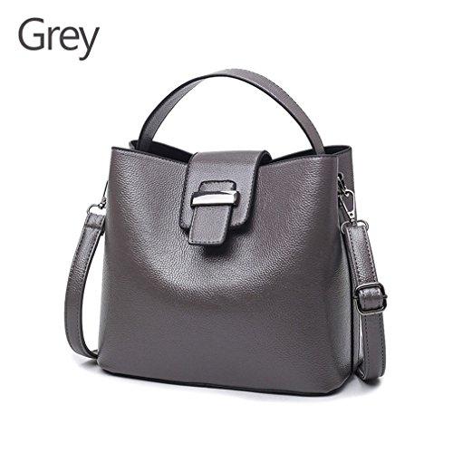 à à Lady bandoulière pour sac les Fashion femmes cuir Bag bandoulière Sac Body sac en à Mujer et bandoulière main Grey Cross 6qPwpExva