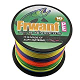 Frwanf Hollow Core Braided Fishing Line 500M/546Yards 80LB Colorful - 16 Strands PE Fishing String Multifilament Wire Fishingline Super Strong UltraSensitive Small Diameter Low Memory