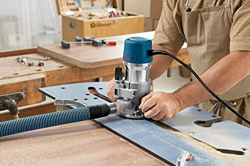 Bosch 1617EVSPK Combination Router - 12 Amp 2.25 Horsepower Corded Peak Variable Speed Plunge and Fixed Base Router Kit with Hard Case