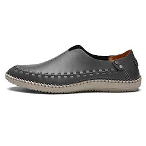 Zapatos de Cuero Enuine para Hombre Mocasines con Cordones clásicos Oxfords Forrados con Orificios Respirables: Amazon.es: Zapatos y complementos