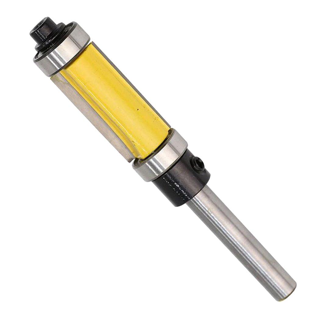 38mm MagiDeal 1//4  Queue Fraises /à Rainurer Fraise Double Routeur Bit Foret Affleurante Menuiserie de Roulement