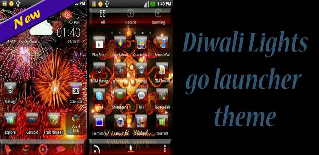 Diwali lights go launcher theme: Amazon.es: Appstore para ...