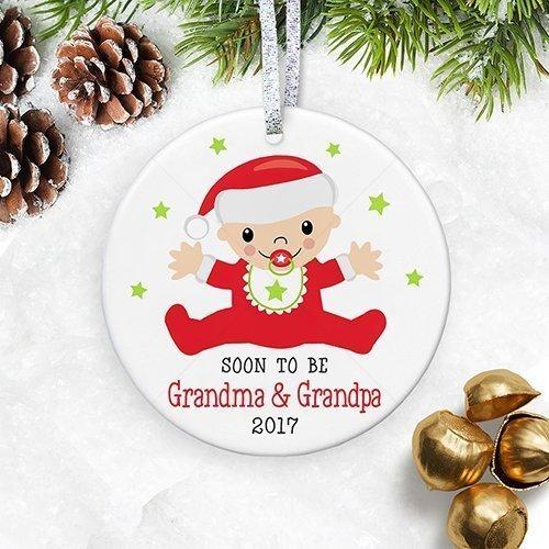 Amazon.com: Soon To Be Grandma & Grandpa 2018 Christmas Ornament ...