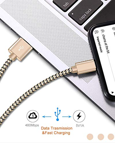 iPhone Charger Cable,iPhone Cable 3 Pack 1.5M, Nylon Braided iPhone Charger Extra-Strong iPhone Lead Fast Charging Cable Compatible iPhone 11Pro/11/X/Xs/Xr/SE/8/8Plus/7/7Plus/6/6Plus/5 iPad & More