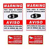 VideoSecu 2 large (11.5×8.3″) and 2 small (3×2″) security warning signs stickers Decals for Home CCTV DVR CCD Video Surveillance Camera System 1RN, Best Gadgets