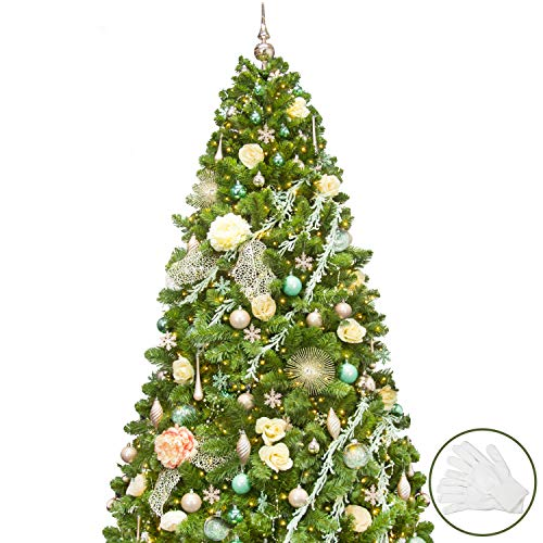KI Store 7ft Artificial Christmas Tree with Ornaments and Lights Fairy Garden Christmas Decorations Including 7 Feet Full Tree, 144pcs Ornaments, 2 pcs 59ft USB Mini LED String Lights from KI Store