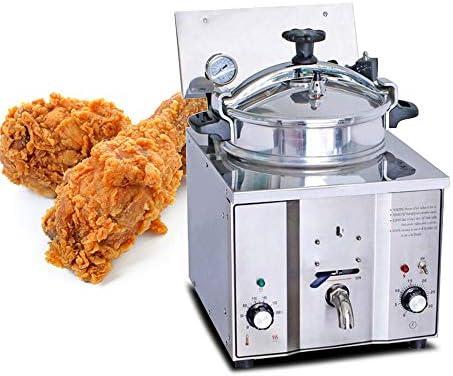 Amazon.com: genmine freidora de presión para pollo 16L 2400 ...