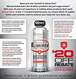 Eliminex Premium Same-Day Detox Drink by Herbal Clean for Fast Toxin Elimination for High Toxin Levels or Larger Body Mass,32 Ounce