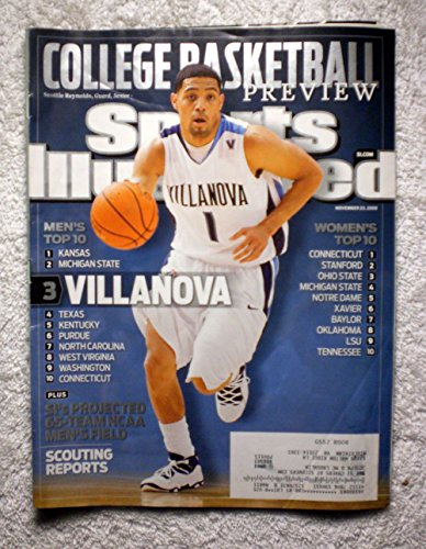 2009 Sports Illustrated Cover - Scottie Reynolds - Villanova Wildcats - Sports Illustrated - November 23, 2009 - College Basketball Preview - Regional Cover - SI